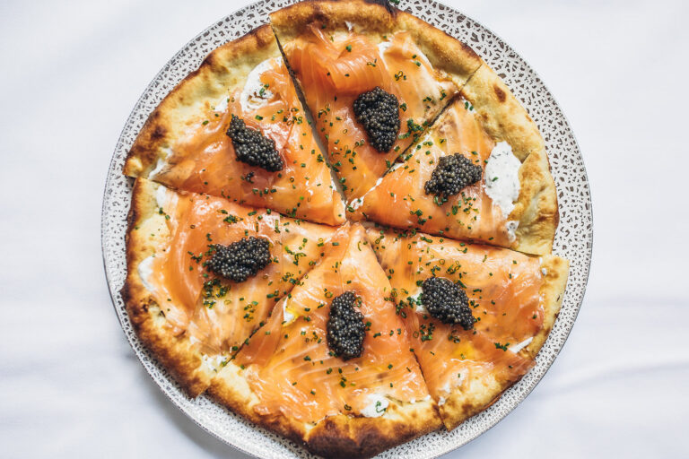 Iconic Smoked Salmon pizza